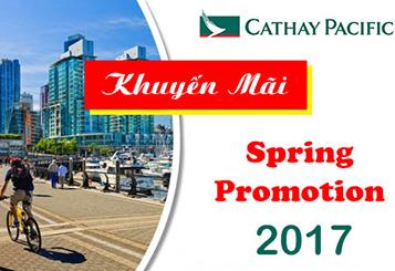 chương trình khuyến mãi spring promotion của cathay pacific