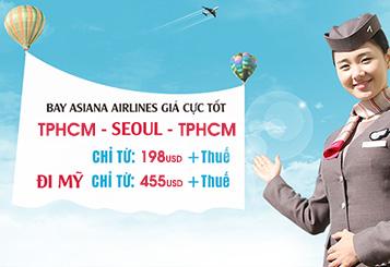 Asiana Airlines khuyến mãi cuối năm 2017