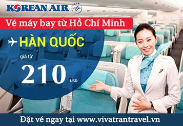 chương trình khuyến mãi vé máy bay đi Hàn Quốc của Korean Air