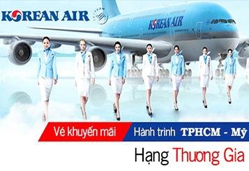 Korean Air khuyến mãi vé máy bay đi Mỹ hạng thương gia