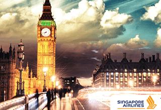 singapore airlines khuyến mãi các đường bay đến Châu Âu