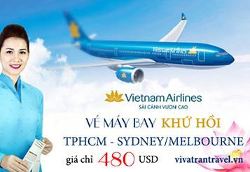 Vietnam Airlines khuyến mãi vé từ TPHCM đi Sydney/Melbourne
