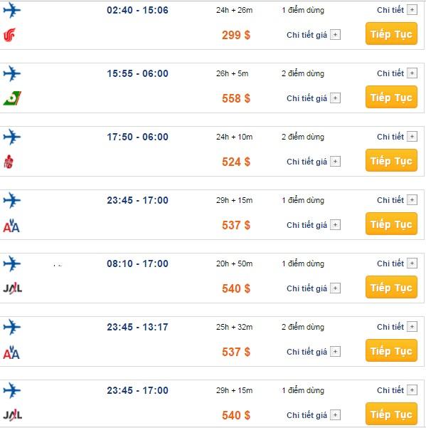 Bảng giá vé máy bay đi Boston