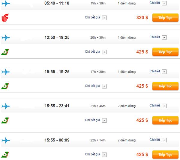Bảng giá vé máy bay đi Vancouver