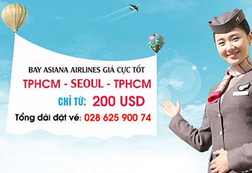 Asiana Airlines khuyến mãi vé đi Seoul