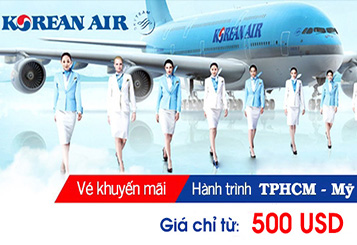 Korean Air khuyến mãi vé đi Mỹ