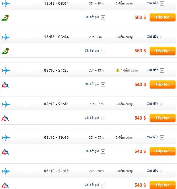 bảng giá vé máy bay đi Washington